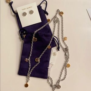 New Tory Burch Earrings and Necklace